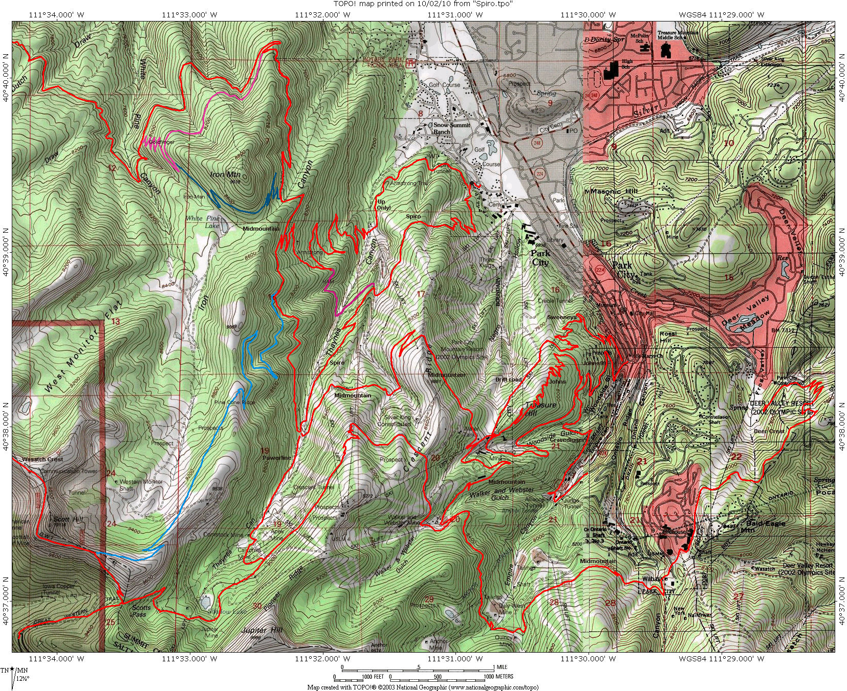 Spiro Trail In Park City - Park city map