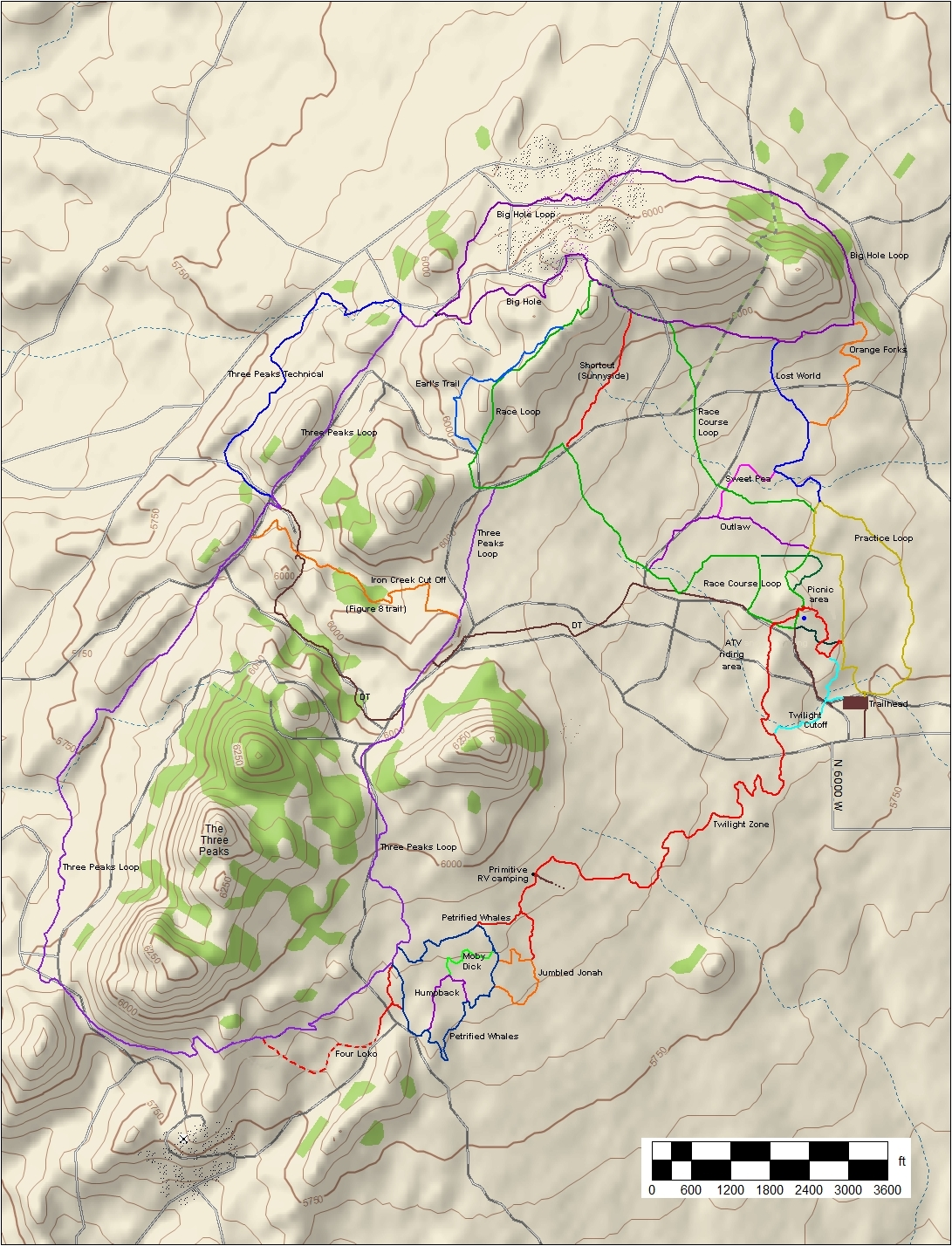 Three Peaks Trail System